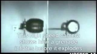 Взрыв гранаты - замедленная съемка