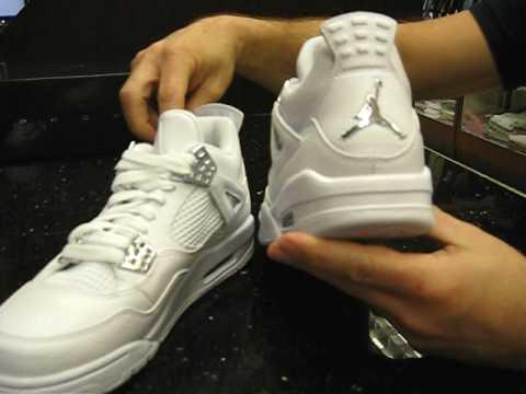 lowest price 9843c c555b Air Jordan Retro 4 25th Silver Anniversary - White and Chrome - at Street  Gear, Hempstead NY