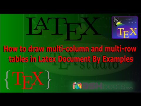 multi column table latex 1