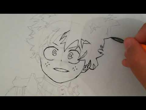 Speed drawing //Midoriya Izuku from Boku No Hero Academia