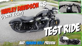 Harley Davidson 48 (Forty Eight) test ride