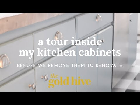 A Video Tour of the Inside of My Kitchen Cabinets