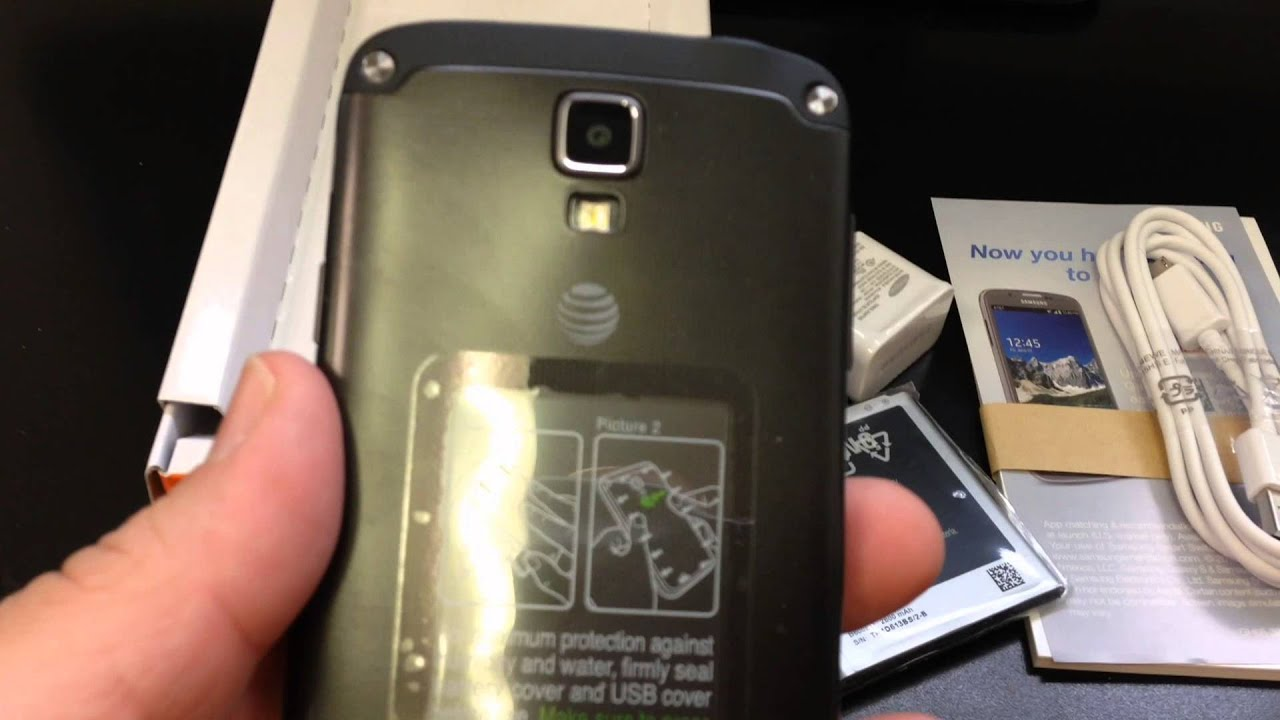 SAMSUNG SGH i537 GALAXY S4 ACTIVE Unboxing Video