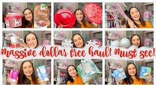 MASSIVE DOLLAR TREE HAUL!!! It's beginning to look a lot like Christmas! CANDY CANE THEME!