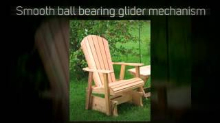 Amish Creek Furniture Adirondack Red Cedar Single Glider Cha