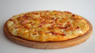 Тарт фламбе/Flammkuchen + Рецепт универсального дрожжевого теста для багетов, пит, пиццы и т.д.