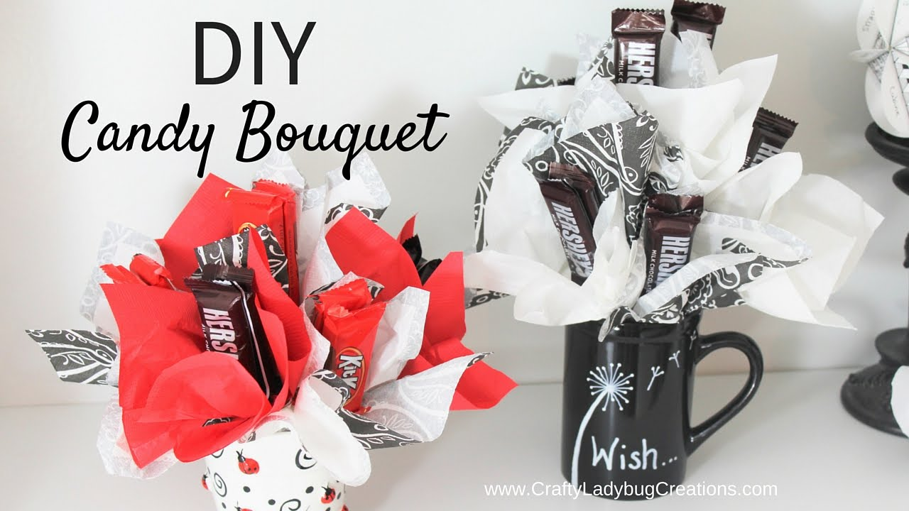 DIY Craft and Candy Bouquet Tutorial by Crafty Ladybug Creations ...
