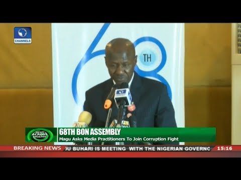 Magu Asks Media Practitioners To Join Corruption Fight | News Across Nigeria |