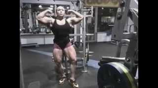young fbb massive quads and biceps