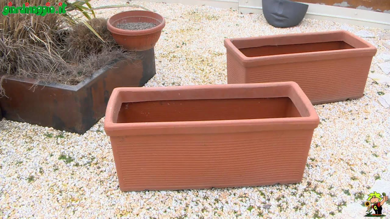 Giardino in terrazzo:scelta vasi o vasche e riempimento - YouTube