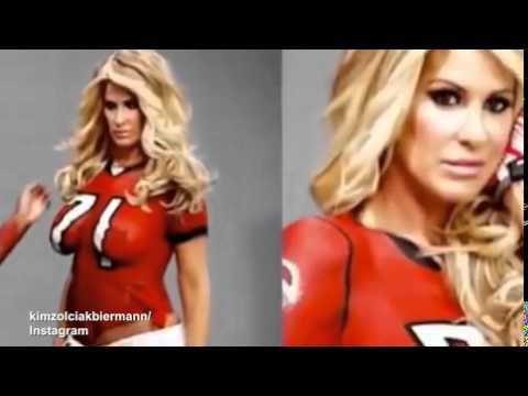 32657cd9057b3 Kim Zolciak paints hubby s jersey on her... - YouTube
