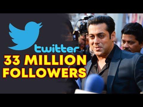 Salman Khan Crosses 33 MILLION Followers On Twitter  Social Media King