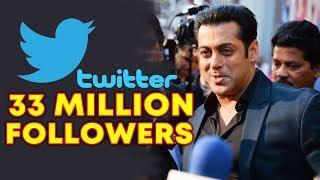 Salman Khan Crosses 33 MILLION Followers On Twitter | Social Media King