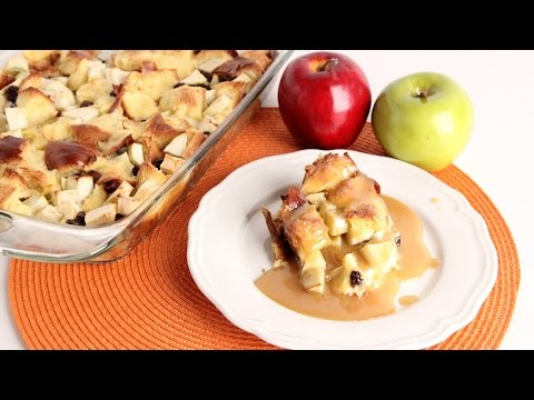 Apple Bread Pudding With Vanilla Butter Sauce - Laura Vitale - Laura In The Kitchen Episode 992