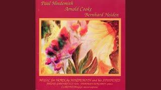 Horn Sonata: I. Moderato