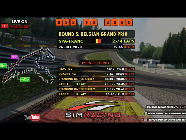 Sim Racing Company - RSS F3 2020 Round 5: Spa-Francorchamps