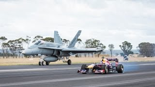 Video F1 Car vs F/A-18 Hornet (Red Bull's Daniel Ricciardo Feels The Force) download MP3, 3GP, MP4, WEBM, AVI, FLV November 2019