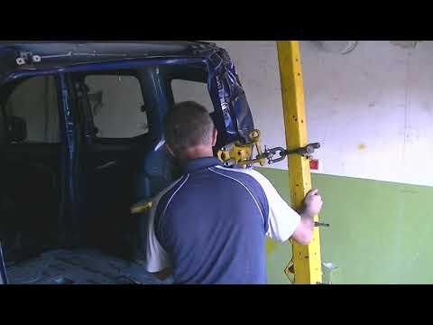 FIAT QUBO . Кузовной ремонт . Рихтовка . Часть 3 .