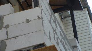 Максимус окна - пример кладки пеноблоков на лоджии при утепл.