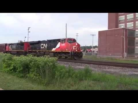 CN Trains From Battle Creek Michigan June, 2017