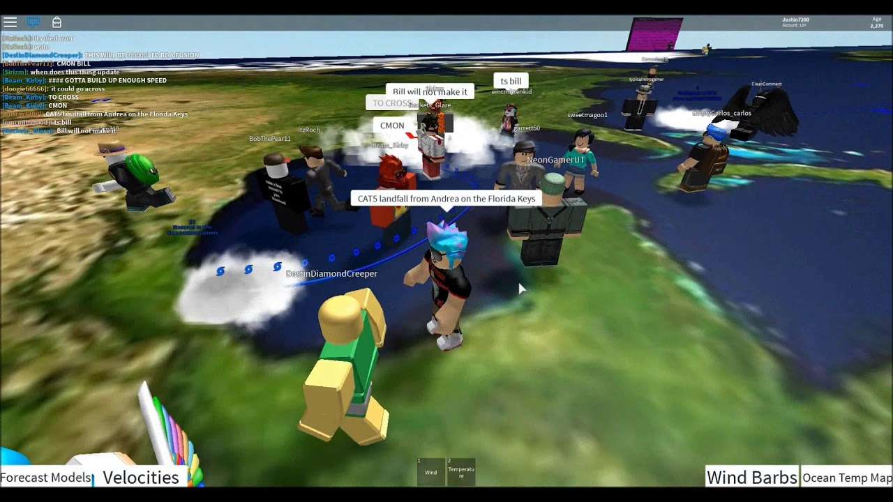 Lets Play Roblox Cat5 Hurricane In Hurricane Tracker 3 75 Youtube