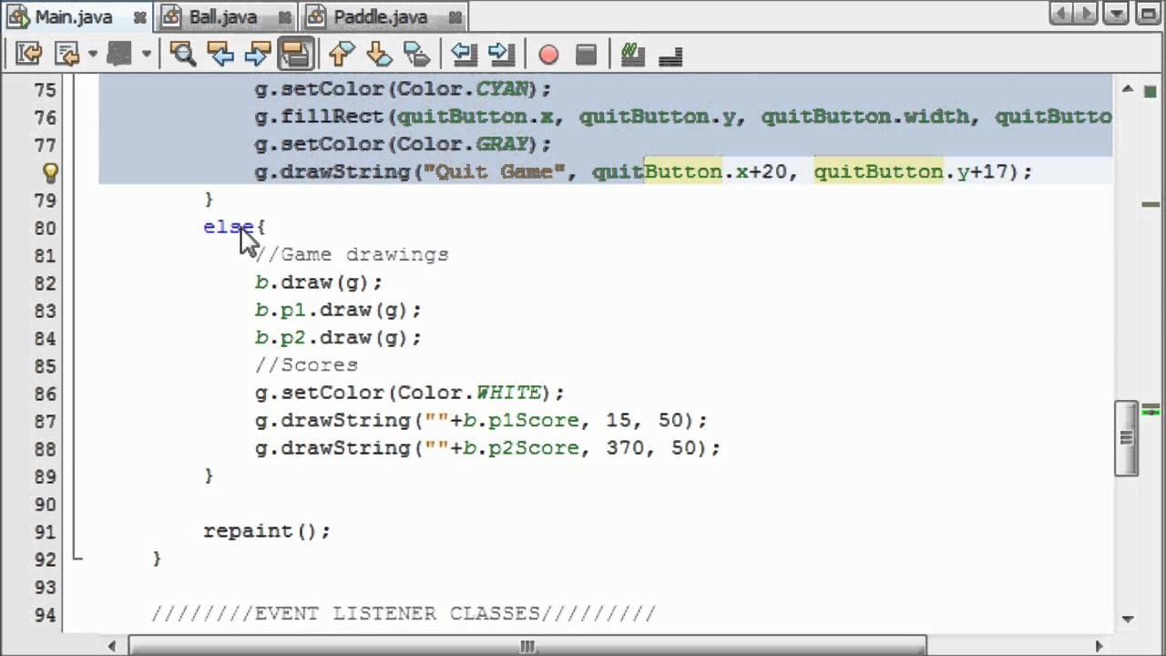Java game programming for beginners 14 menus buttons for java game programming for beginners 14 menus buttons for games youtube baditri Images