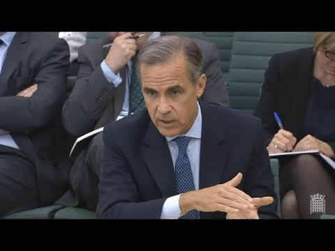Bank Governor Mark Carney on Inflation and hard Brexit