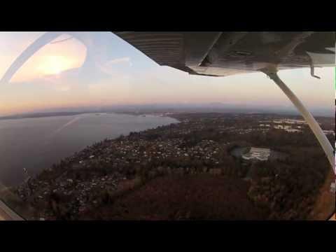 Paine Field Landing 16R 3-29-2013