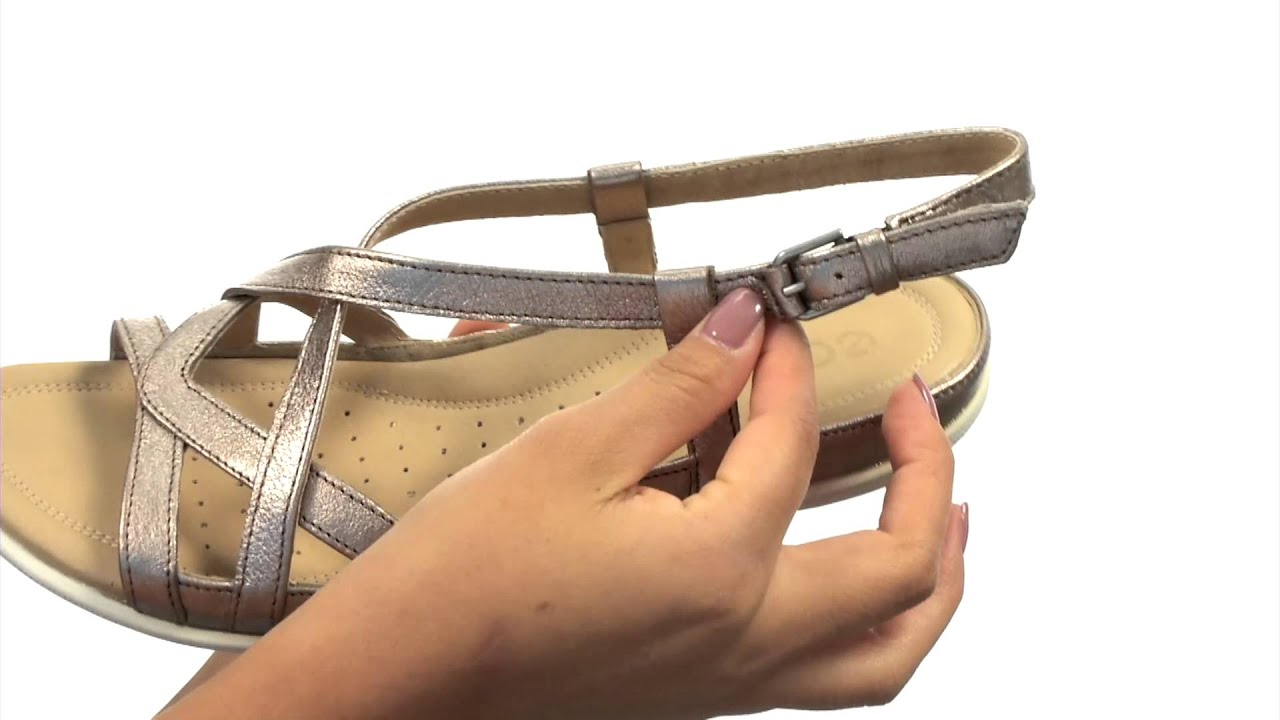 66f1645c7269b ECCO Flash Cross Strap Sandal SKU 8515466 - YouTube