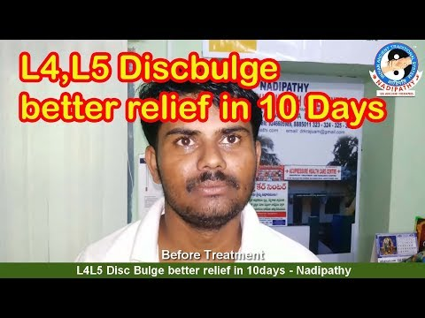 L4L5 Disc Bulge relief in 10 days - Nadipathy