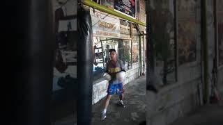 Phil-Aust Boxing Aki Abello/Sean Oneil Abello hit the Bags