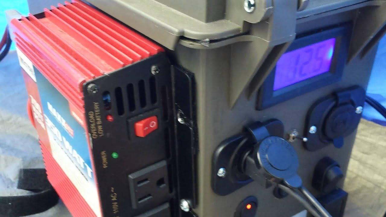 DIY Portable Solar Generator Powerfilm Solar - YouTube