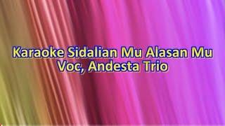 Karaoke Sidalian Mu -  Nada Pria Cowok - Kunci A=Do - Voc, Andesta Trio