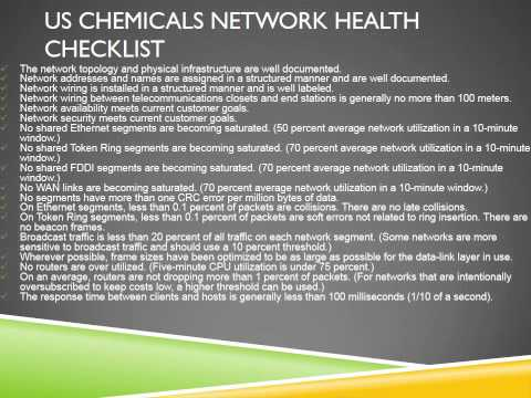 An OVERVIEW OF US Chemicals Network and Business