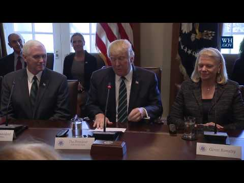 President Trump Leads a Roundtable Discussion with United States and German Business Leaders