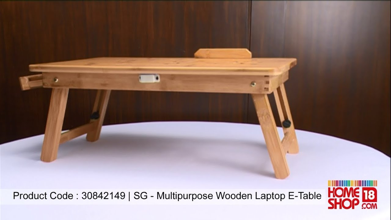 Homeshop18.com  SG MultiPurpose Wooden Laptop E Table  . Full resolution‎  img, nominally Width 1366 Height 768 pixels, img with #AE631D.