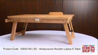 Homeshop18.com- Sg Multipurpose Wooden Laptop E-table