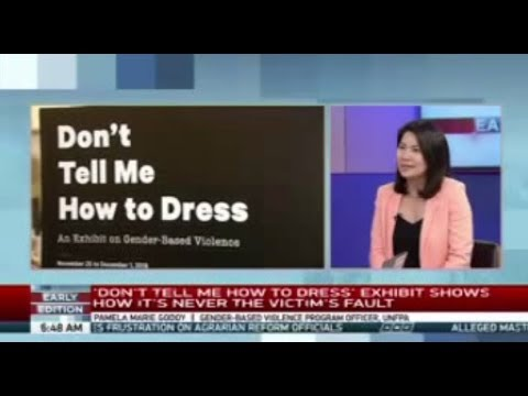 UNFPA's Pamela Godoy discusses the UN's Don't Tell Me How to Dress Exhibit