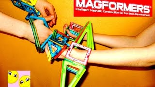 Магнитный конструктор МАГФОРМЕРС, распаковка, обзор, сравнение, игра. Видео для детей.  0+