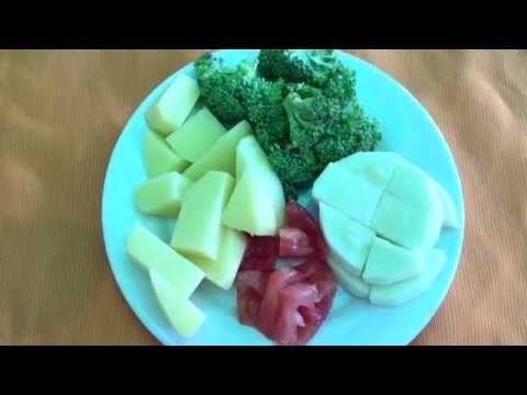 Рецепт детского овощного пюре  с 6 мес. за 15 минут.Запорожская Анна
