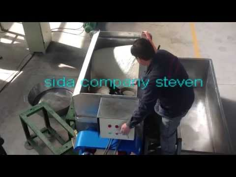 stainless steel gluten (seitan) machine working video
