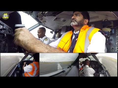 ALS Dash 8-100 ROCKET-like takeoff: Captain Armadeep departs from Nairobi Wilson! [AirClips]