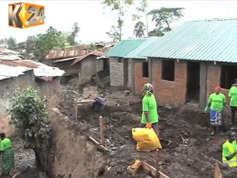 Devolution CS, Kidero Inspect Ongoing Project Kibera Slum Upgrading Program