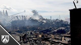 Löscharbeiten dauern an nach Großbrand in Mönchengladbach
