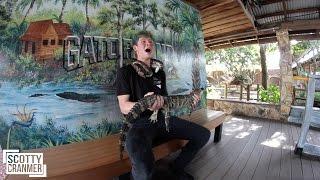 holding alligators and riding skateparks