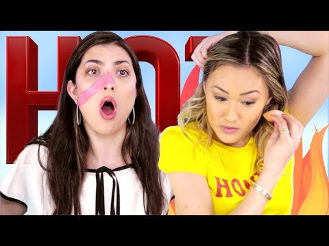 Hot Pepper Makeup Challenge With LaurDiy!