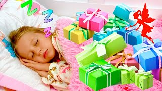 Nastya dan tempat tidur kereta putri barunya