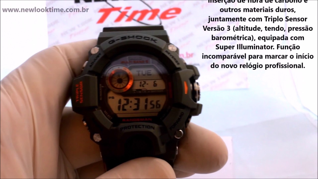 Relgio G Shock Rangeman Gw 9400cmj 3dr New Look Time Relgios Casio Gshock Original 9400bj 1jf