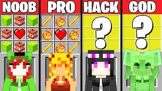 Minecraft Battle: GIRL MOB CRAFTING CHALLENGE - NOOB vs PRO vs HACKER vs GOD ~ Minecraft Animation