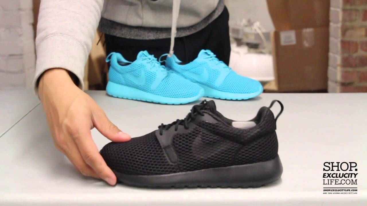 Women's Nike Rosherun Hyperfuse BR Black - Black Unboxing Video at Exclucity